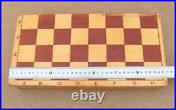 Vintage wooden Chess USSR, old 60-70s, Wooden Chess Full Set